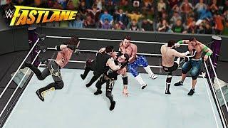 WWE 2K18 Fastlane 2018 - AJ Styles vs Cena vs Owens vs Ziggler vs Sami vs Baron - WWE Title Match!