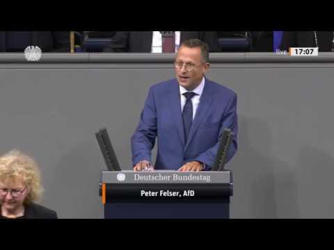 "Bundestag. ""Sie spalten die Gesellschaft"" Peter Felser, AfD 13.11.2019"