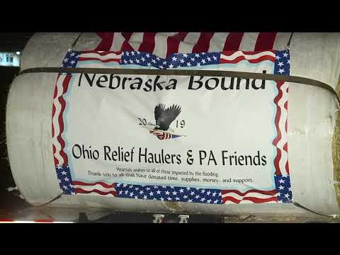 Ohio Relief Haulers making the long trek to Nebraska to help farmers devastated in Midwest flooding