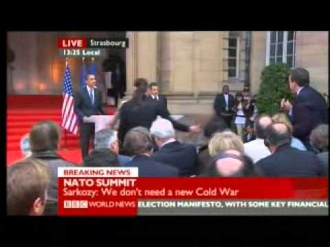 Nato Summit 2009 - Sarkozy Obama Press Conference 2 of 3 - BBC World News Reports