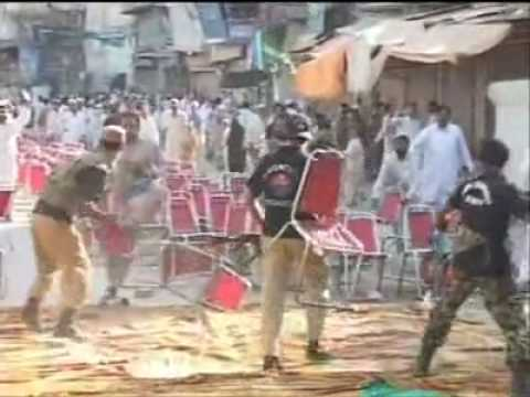 LIVE ACTION OF BANNU POLICE ON JAMAAT-E-ISLAMI  JALSA.....MUST WATCH
