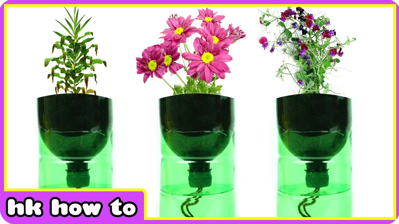 Make Self Watering Planters Easiest How To Make Self Watering Planters Diy Videos For Kids