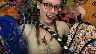 ASMR WHATS IN MY FESTIVAL BAG