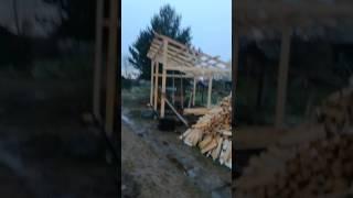 видео Как построить дровяник своими руками?