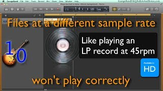 Minute GarageBand - learn how to fix an imported file that plays to...