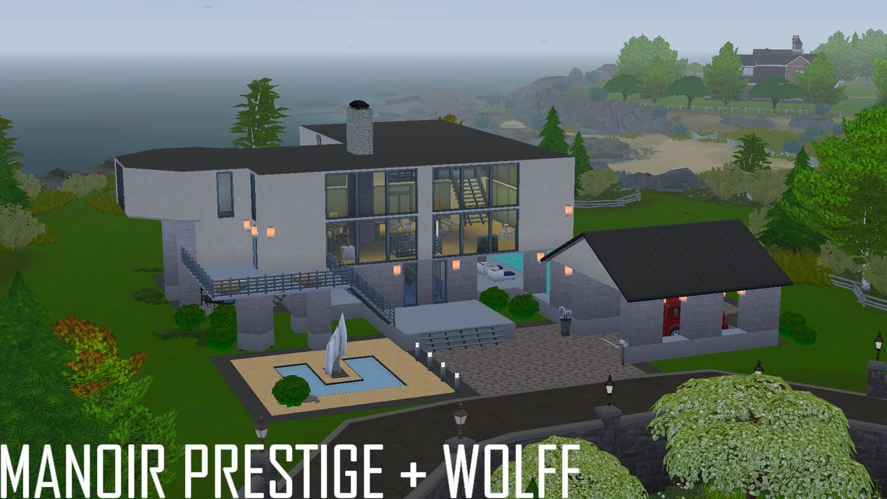 Manoir Prestige Wolff Les Sims 4 Recreer Les Sims 3 Sunset Valley