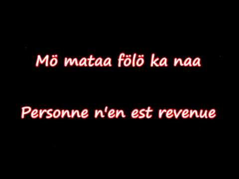 Salif Keita - Tomorrow (Paroles traduites en français)