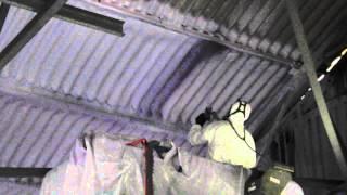 Sprayfoam Solutions Spray Walltite to Community Hall Roof