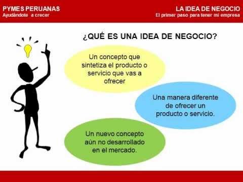 LA IDEA DE NEGOCIO (el primer paso para tener mi empresa)