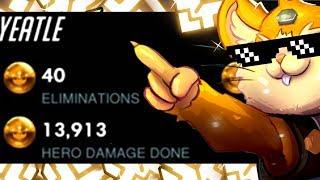 YEATLE INSANE HAMMOND - 40 ELIMS! [ OVERWATCH SEASON 16 TOP 500 ]