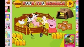 PEPPA PIG FEED THE ANIMALS 💖💖💖 Свинка Пеппа Кормит Животных, Ферма Игра 😃😃😃