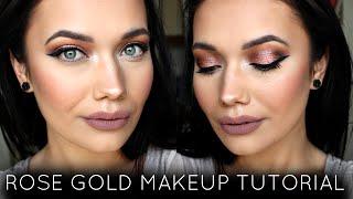 Glowing Rose Gold Makeup Tutorial   Colourpop + Anastasia Beverly Hills