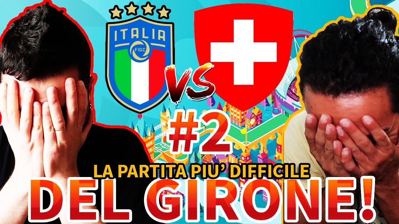 🇮🇹 La PARTITA più IMPORTANTE e DIFFICILE DEL GIRONE‼️ Italia-Svizzera [EURO 2020 - PES 2021]