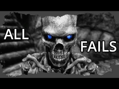 """Skyrim """"Damned Story"""": Behind the Scenes - Fails Compilation - Episodes 40 to 60"""