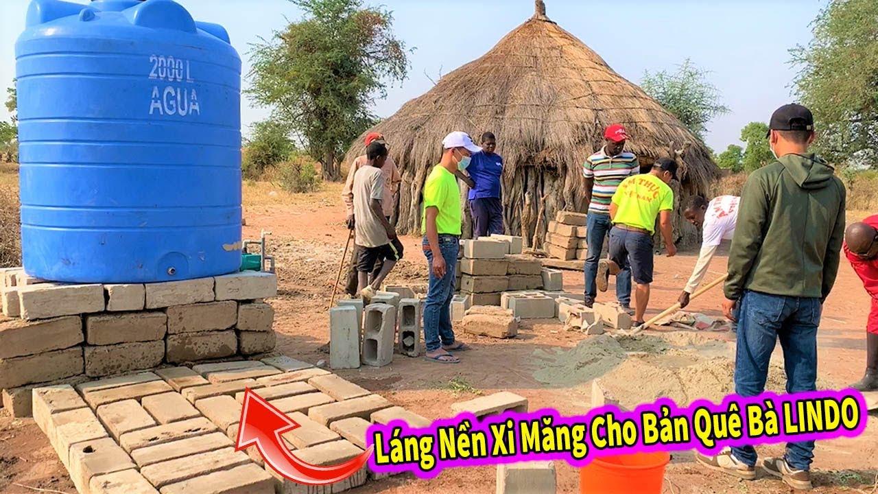 Quanglinhvlogs || Láng Nền Xi Măng Ở Giếng Khoan Cho Quê Bà LINDO