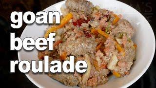 Goan Beef Roulade Recipe  Stuffed Beef Rolls Recipe  Goan Food Recipe  Authentic Goan Beef Recipe