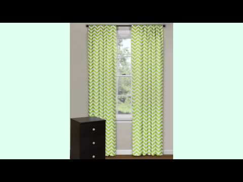 Chevron Green Curtains To Get You Close To Nature