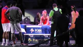 Tennis Classic 2013: Watch this! Daniela Hantuchova from Slovakia is a great piano player!
