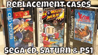 Long Box Replacement Cases for PS1, Saturn, and Sega CD