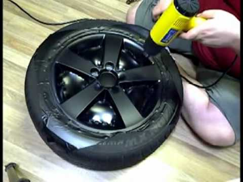 Spray Paint Honda Hubcaps