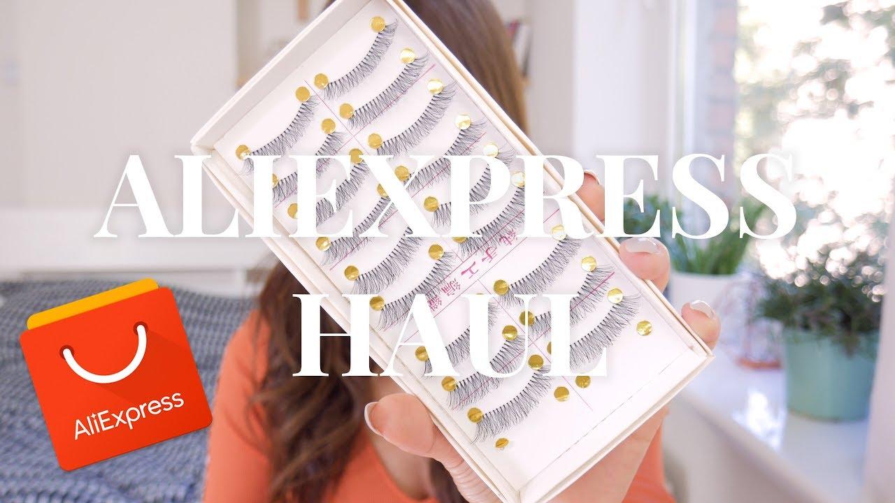 aliexpress haul | rzęsy i jakieś bzdury
