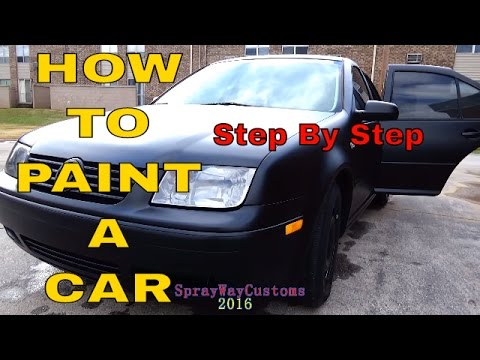 How To Paint A Car At Home  / $100 Paint By Urekem / Flat - Matte - Satin Black Paint Job