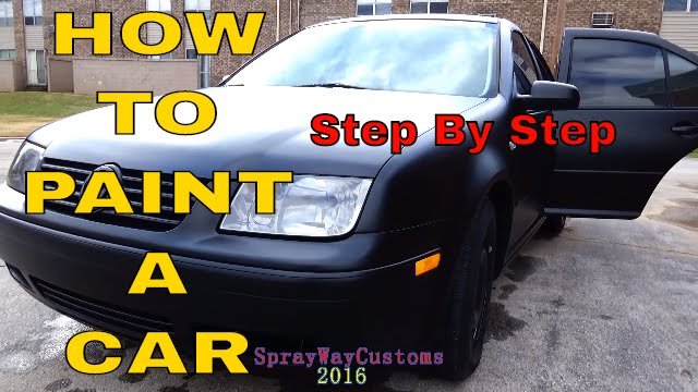 how to paint a car at home 100 paint by urekem flat matte satin black paint job youtube. Black Bedroom Furniture Sets. Home Design Ideas