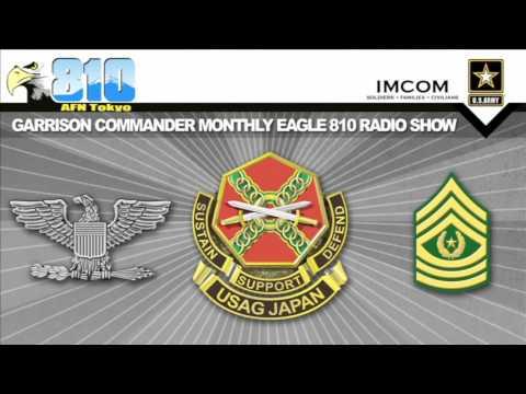 U.S. Army Garrison Japan Commander Monthly Radio Show Oct. 6, 2016