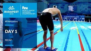 Day 1 Recap #FINAJuniors Budapest | FINA World Junior Swimming Championships 2019