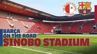 Inside Slavia Prague's stadium | BARÇA ON THE ROAD