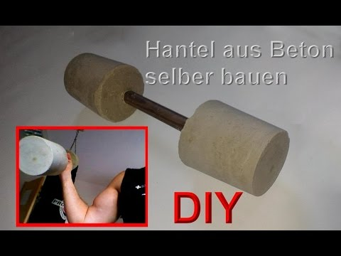 hanteln selber bauen kurzhanteln selbst machen diy hantel basteln beton gewichte gie en. Black Bedroom Furniture Sets. Home Design Ideas
