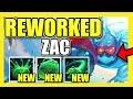 NEW ZAC REWORK IS LEGIT 100% FUN! (NEW ULTIMATE) Reworked Zac Support Gameplay - LoL