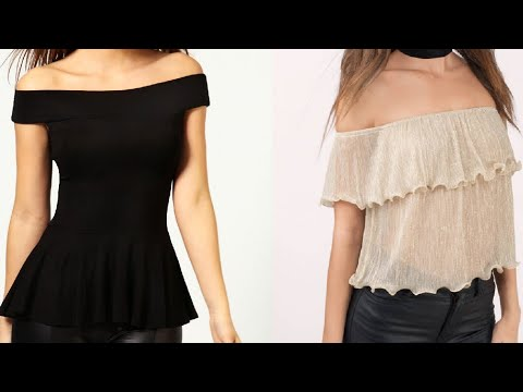 f57a2741e1574 How to cut and stitch off shoulder top..(very easy method) - YouTube
