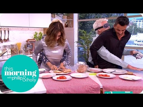Blindfolded Sandwich Making World Record Attempt With Mo Farah And Peter Andre | This Morning