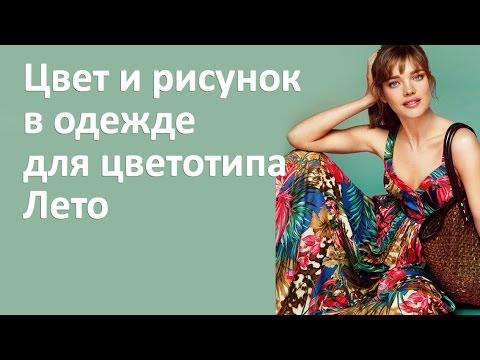 Цвет и рисунок в одежде для цветотипа Лето - На примере Натальи Водяновой