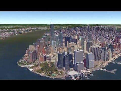 NYC · Virtual Flight According To Google Earth 3D