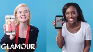 Elle Fanning & Aja Naomi King Show Us the Last Thing on Their Phones | Glamour