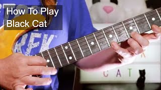 'Black Cat' Janet Jackson Guitar Lesson