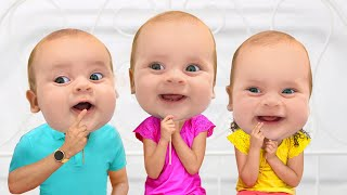 Family plays to Baby Mask | Story about kids masks