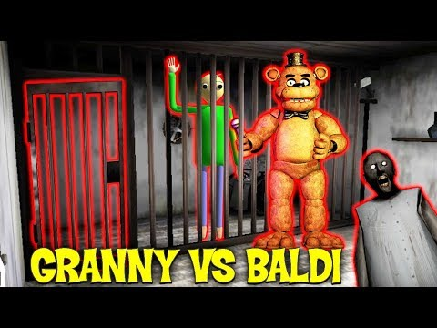 ГРЕННИ МУЧАЕТ БАЛДИ И АНИМАТРОНИКА - Granny Vs Baldi Multiplayer Horror онлайн хоррор по сети