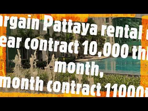 Pattaya Condo Rental 10,000THB Per Month CR1797