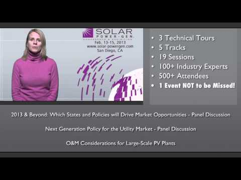 Solar POWER-GEN Conference Tracks