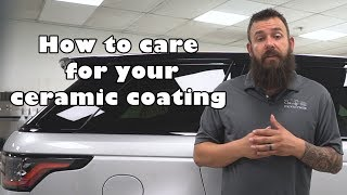 How to care for your CERAMIC COATING