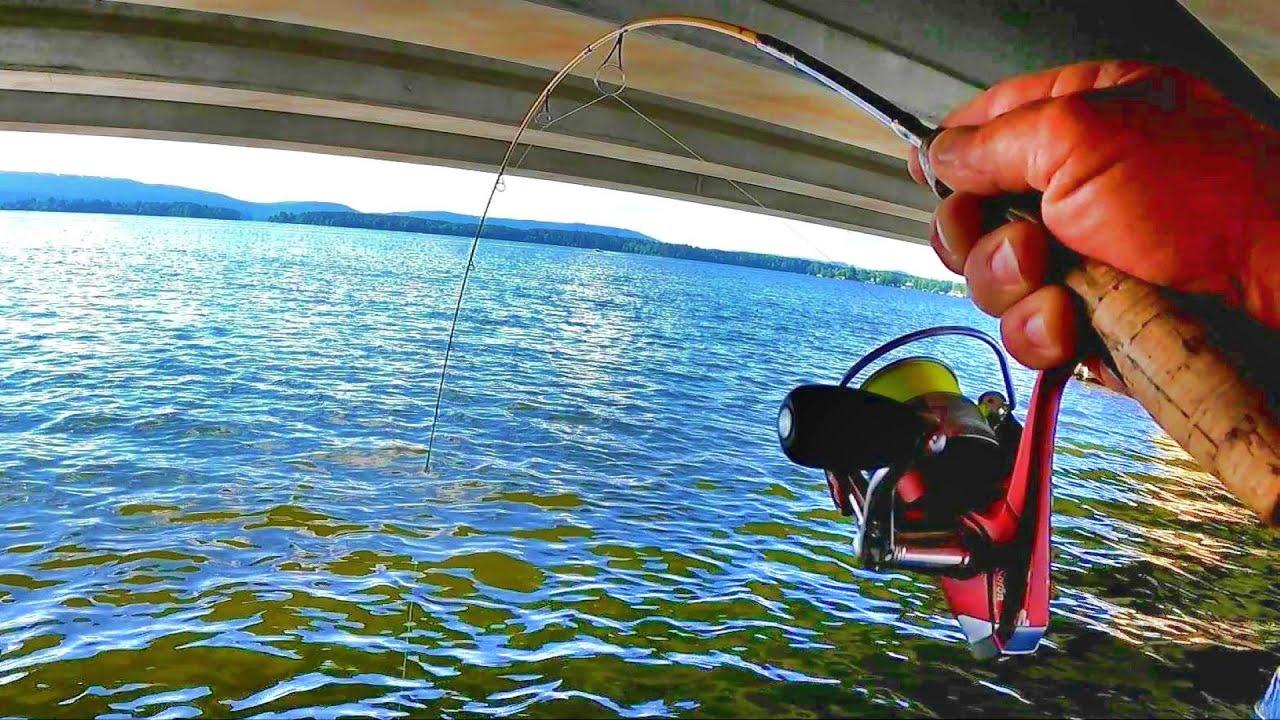 FANTASTIC SUMMERTIME TACTIC!!! Bridge Fishing For Crappie! (Complete Setup)
