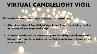 Thank you and Vigil Directions https://www.pavhawaii.com/