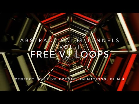 FREE VJ LOOPS AND MOTION GRAPHICS PACK | Abstract Sci Fi Tunnels Vol 1 | HQ DOWNLOAD