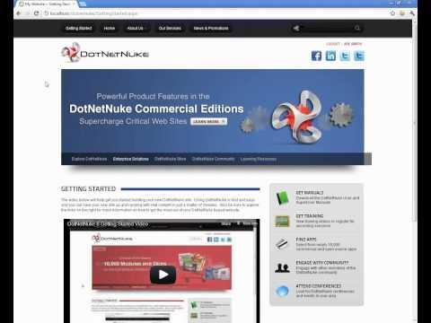 DotNetNuke Explained - Basic Site Administration