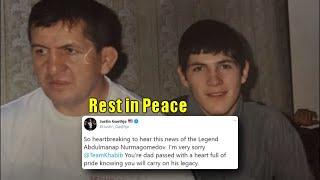 MMA Community mourns the loss of Abdulmanap Nurmagomedov & condolences and love towards Khabib