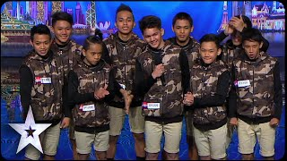Dance troupe Junior New System opens with a bang | Asia's Got Talent 2015 Ep 1