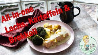 Lachsfilet mit Brokkoli, Kartoffeln und Dillsauce all-in-one im Thermomix